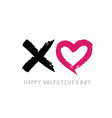 valentines or womens day card about love xo vector image