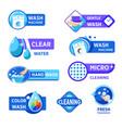 washing machine and laundry isolated icons wash vector image