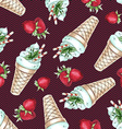 Watercolor Seamless pattern with peppermint ice
