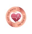 health care logo vector image