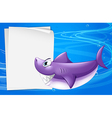 A blank paper in the sea vector image vector image
