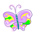 A butterfly an imitation of childrens drawings vector image