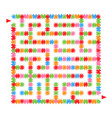 abstract colored square maze an interesting game vector image vector image