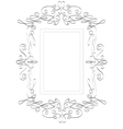 Abstract Victorian frame vector image vector image
