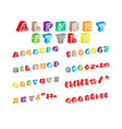 alphabet style vector image vector image