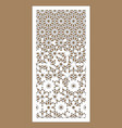 arabic cnc panel laser cutting template vector image vector image