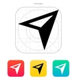 Arrow navigator icon vector image vector image