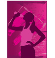 Athletic woman vector image vector image