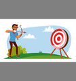 attainment concept businessman shooting vector image vector image