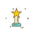 Award prize star trophy trophy winner icon design