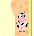 background card with funny cow vector image vector image