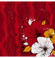 bouquet of hibiscus on red background vector image vector image