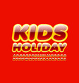 bright poster kids holiday with bright alphabet vector image vector image