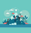 business success flat style design vector image vector image