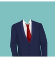 Businessman suit temlate without head vector image vector image