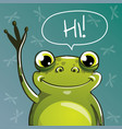 cartoon frog hi vector image