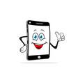 cartoon smartphone smiles vector image