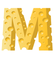 cheese letter M vector image vector image