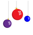 christmas balls flat style vector image vector image
