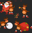 christmas holidays celebration santa claus vector image vector image