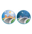 city day night vector image vector image