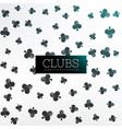 clubs symbol pattern background vector image vector image