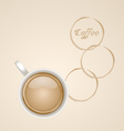 Coffee with Stain vector image vector image