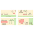 collection of horizontal gift vouchers vector image vector image