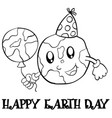 collection stock earth day hand draw vector image vector image