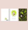 cover design for notebooks or scrapbooks vector image vector image
