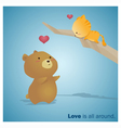 cute animals collection love is all around 3 vector image