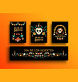 day of the dead mexican holiday card collection vector image vector image