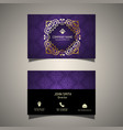 Decorative business card vector image vector image