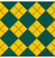 Diamond Chessboard Yellow Green Background vector image vector image