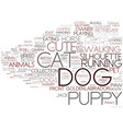dog word cloud concept vector image vector image