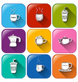 Drink icons vector image vector image