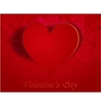Enamored heart on a celebratory background vector image vector image