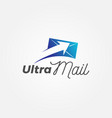 fast ultra mail logo sign symbol icon vector image