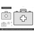 First aid kit line icon vector image vector image