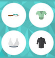 flat icon clothes set of brasserie casual vector image vector image