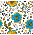 Floral seamless pattern with doodle elements vector image vector image