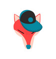 fox wearing baseball cap animal portrait cartoon vector image vector image