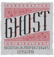handcrafted ghost poster vector image vector image