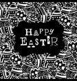 happy easter eggs pattern monochrome holiday vector image vector image