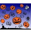 happy halloween theme icon set vector image