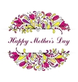Happy Mothers Day invitation card Hand-drawn card vector image