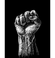 Hard clenched fist vector image vector image