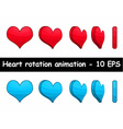 Heart rotation animation vector image vector image