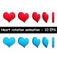 heart rotation animation vector image vector image