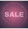 Illuminated Purple Sale Label vector image vector image